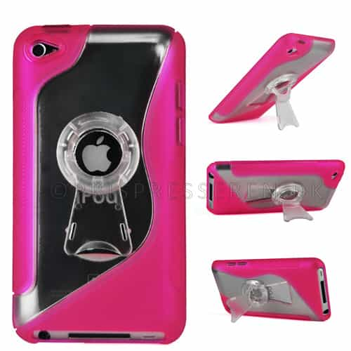 Stand Stylish Hard Plastic Case Cover Ipod Touch 2 - magenta-0