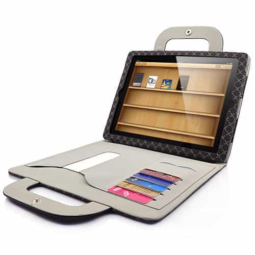iPad 2/3 - Ternet folio læder taske med stand - Sort-0