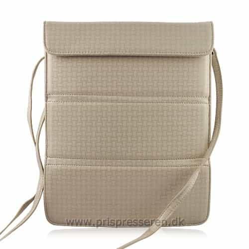 iPad 2/3/4 - Multifunktionel læder etui med stand - Khaki-0