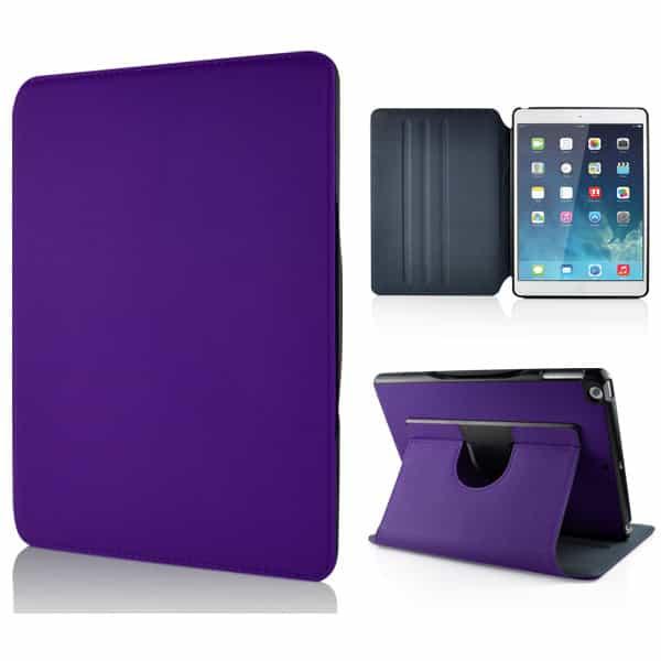 iPad Air (iPad 5) (A1474, A1475, A1476) - Moderne Denim Design Roterbar Læder Etui - Lilla-0