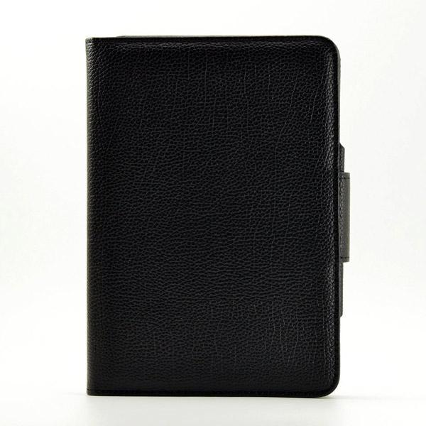 New Detachable Wireless Bluetooth Keyboard Case Lichi Pattern Leather Smart Cover With Stand For Ipad Mini 4 - Black2