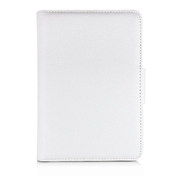 new detachable wireless bluetooth keyboard case lichi pattern leather smart cover with stand for ipad mini white