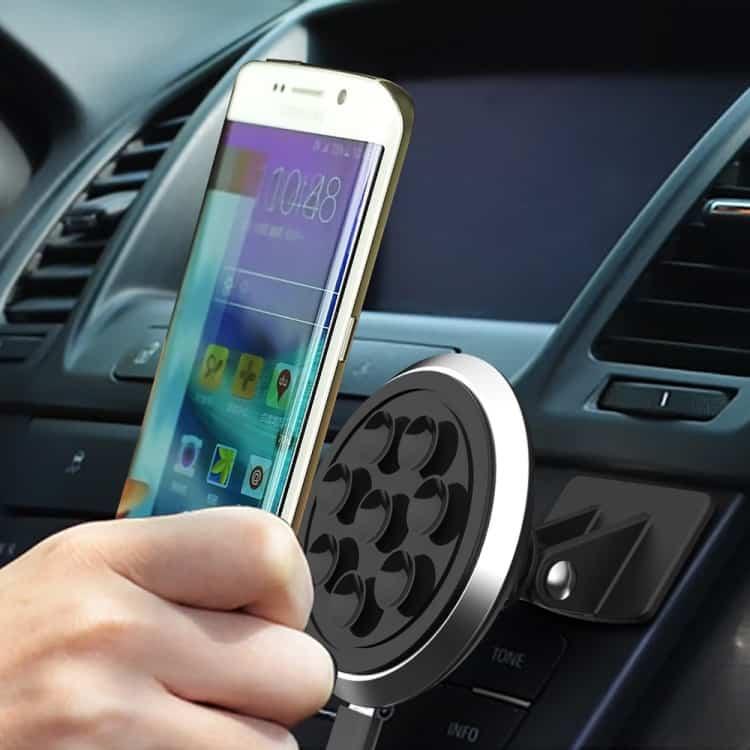 2 i 1 Sugekop Bil Oplader Holder + Qi Trådløs Oplader Til Samsung LG Nokia Sort Til Kun 399,00 DKK