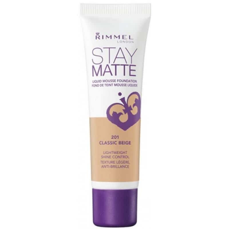 Rimmel Stay Matte Liquid Mousse Foundation 201 Classic Beige Foundation 30 Ml