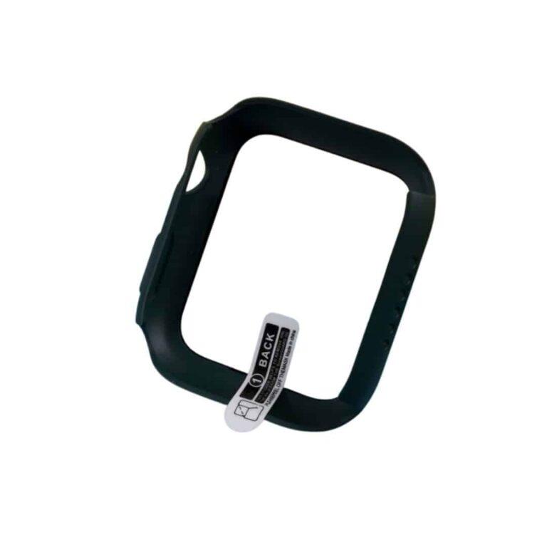 Apple-watch-full-protection-moerkegroen-44mm-cover