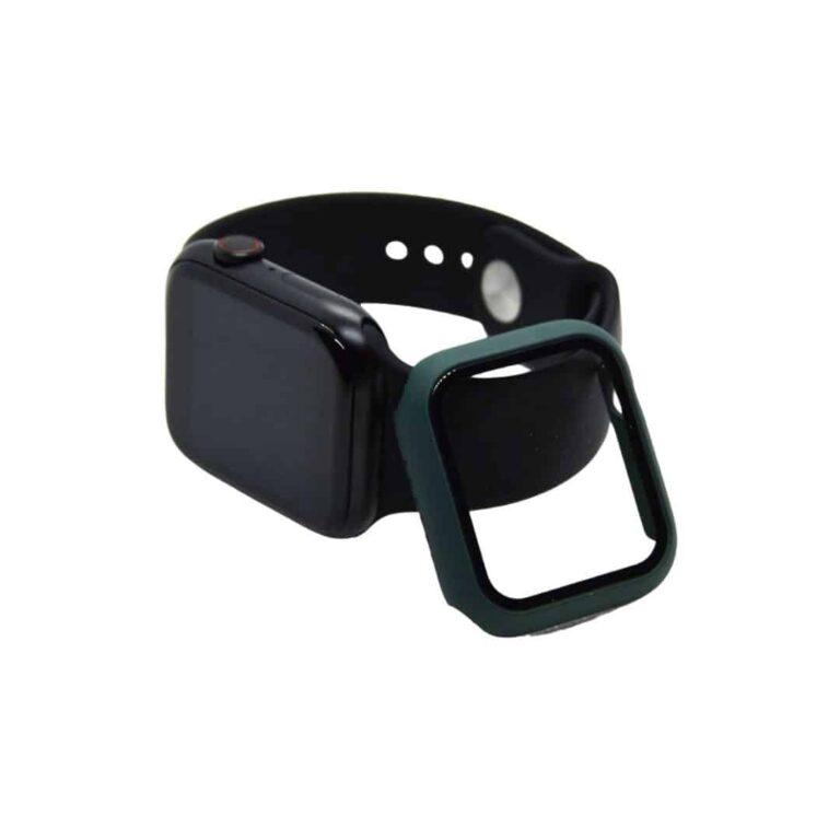 Apple-watch-full-protection-moerkegroen-44mm-ur-cover