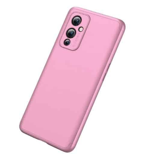 Oneplus-9-360-beskyttelsescover-rosa-mobil-beskyttelse