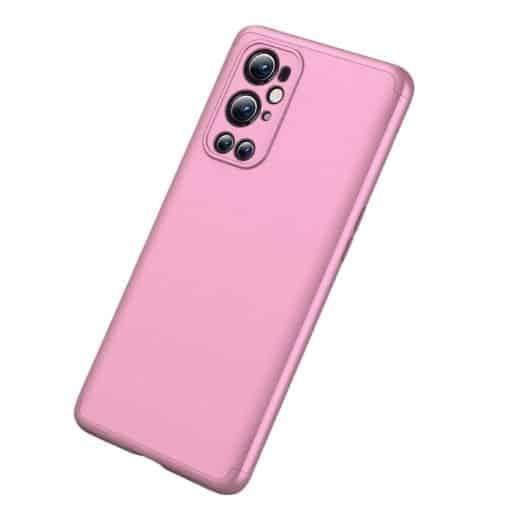 Oneplus-9-pro-360-beskyttelsescover-rosa-mobil-beskyttelse