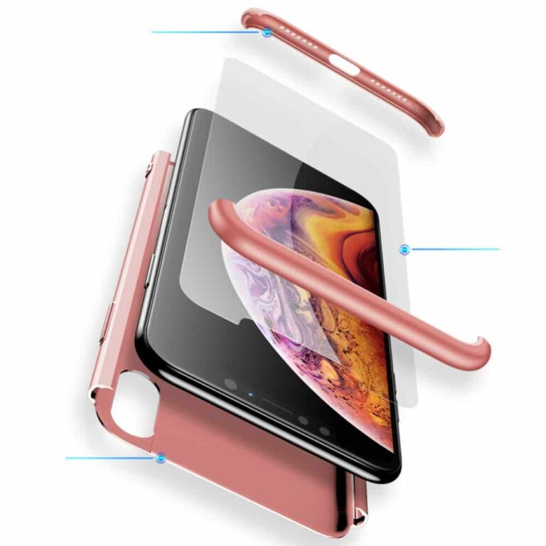Iphone-x-360-beskyttelsescover-rosa-cover