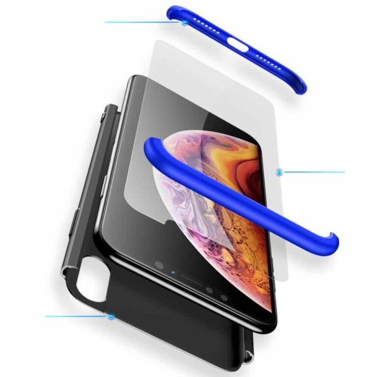 Iphone-xr-360-beskyttelsescover-sortblaa-cover