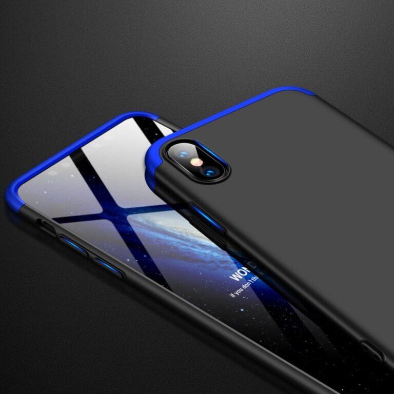 Iphone-xr-360-beskyttelsescover-sortblaa-mobil-cover