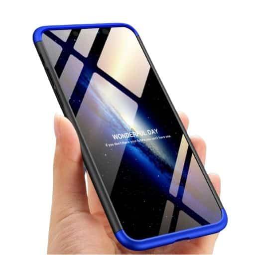 Iphone-xr-360-beskyttelsescover-sortblaa-mobilcover
